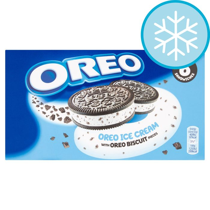 Oreo Ice Cream Sandwich 6 X 55Ml HALF PRICE