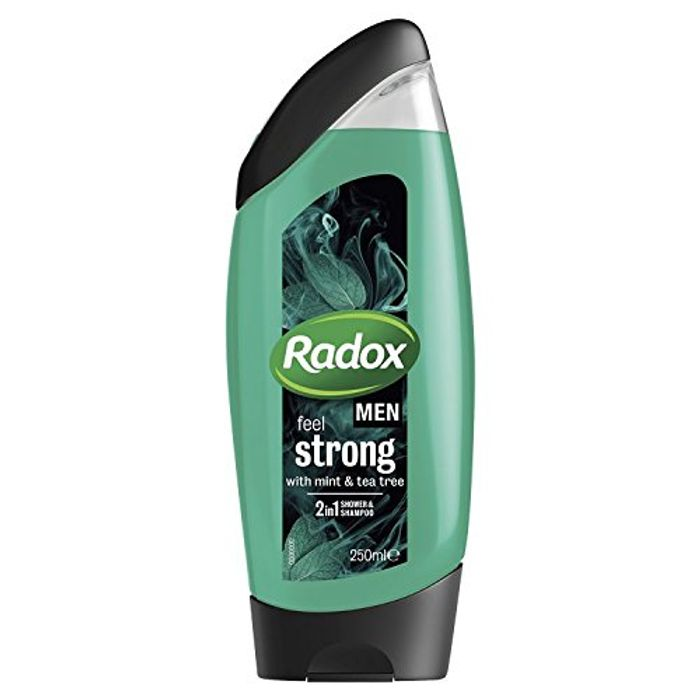 Back Again! Radox Men Feel Strong Shower Gel 250ml, Pack of 6