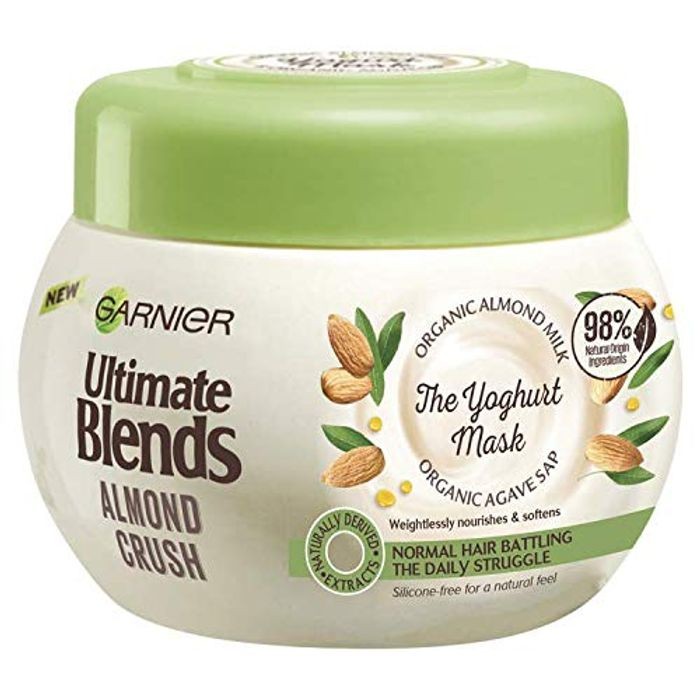 Cheap Ultimate Blends Garnier Almond Milk & Agave Hair Yoghurt Mask Only £2.49