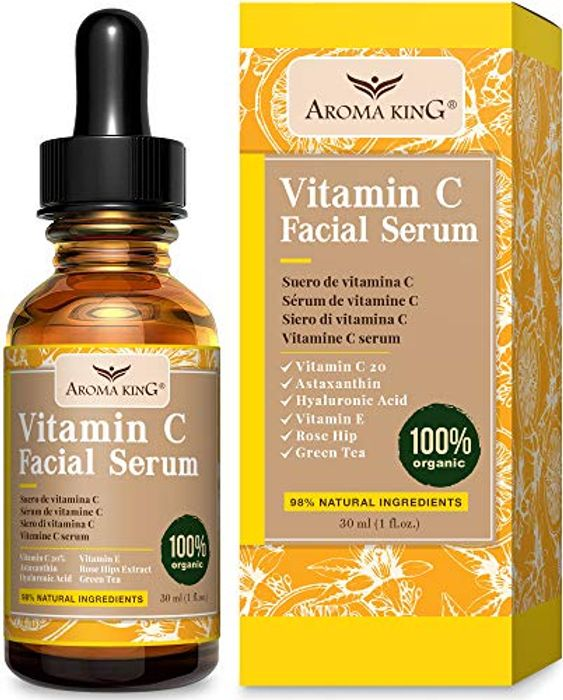 60% off Aroma King Vitamin C Serum for Face with Hyaluronic Acid