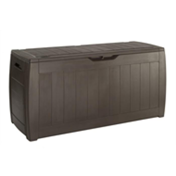 Keter Hollywood Garden Plastic Storage Box 270L - Brown