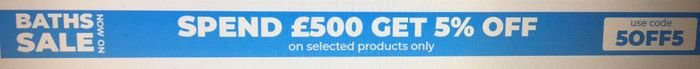 Spend £500 and Get 5% off on Selected Items