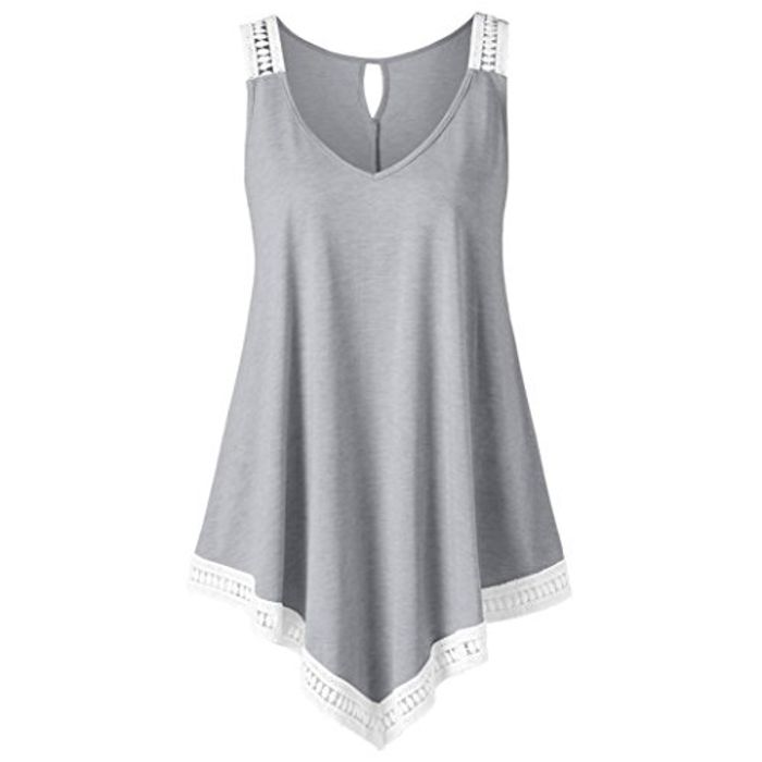 Womens Casual V-Neck Swing Lace
