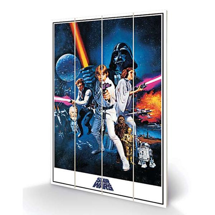 New Hope Star Wars Wooden Plaque Classic Poster Art