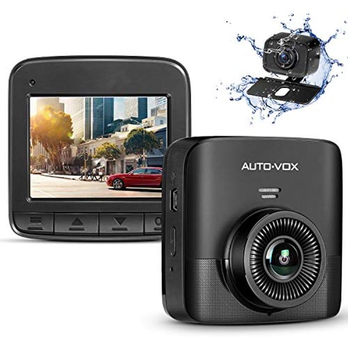 AUTO-VOX Upgrade D5PRO 2.7K Dual Dash Cam for Cars