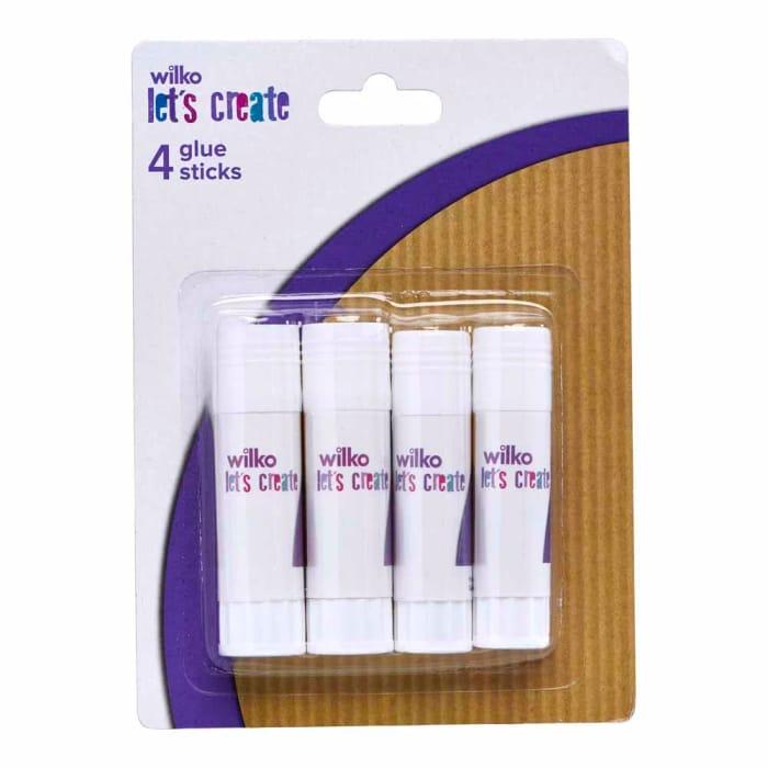 Wilko Glue Sticks 4 Pack