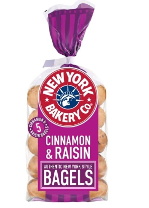 New York Bagel Co. Cinnamon & Raisin 5 per Pack