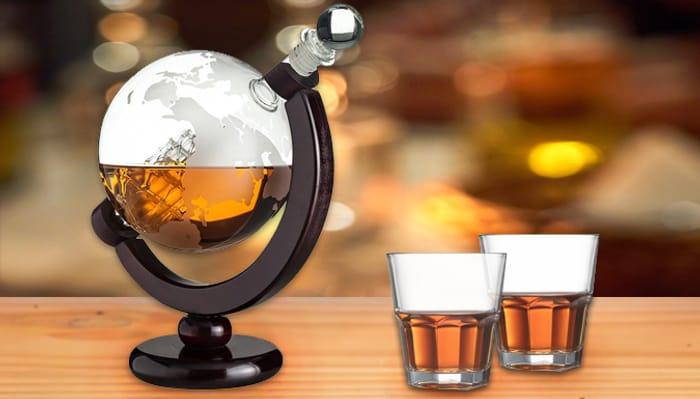 850ml Glass Globe Whiskey Decanter
