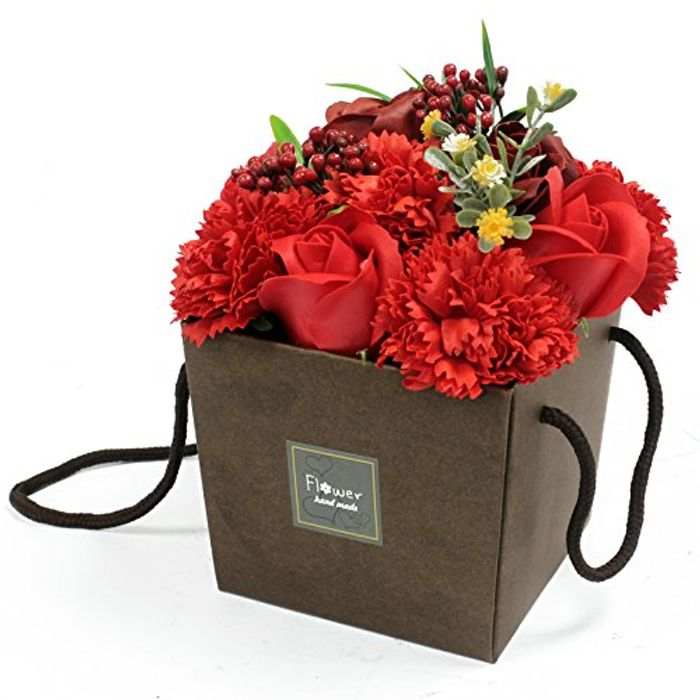 Red Rose and Carnation SOAP BOUQUET *Mothers Day*