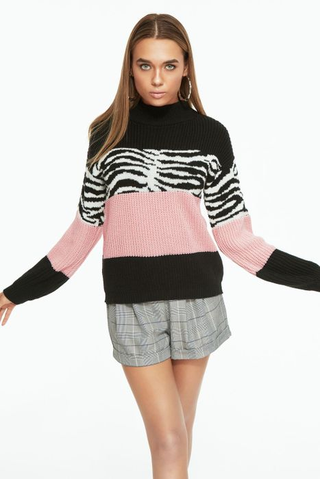 Pink Animal Stripe Jumper Down From £12.99 to £5.99