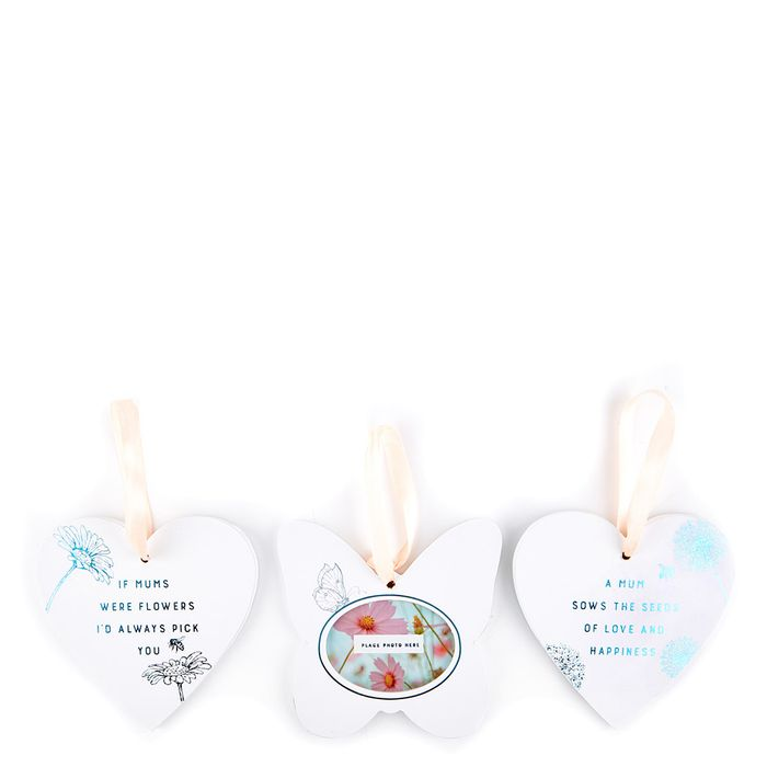 Mother's Day Hanging Floral Plaques & Photo Frame