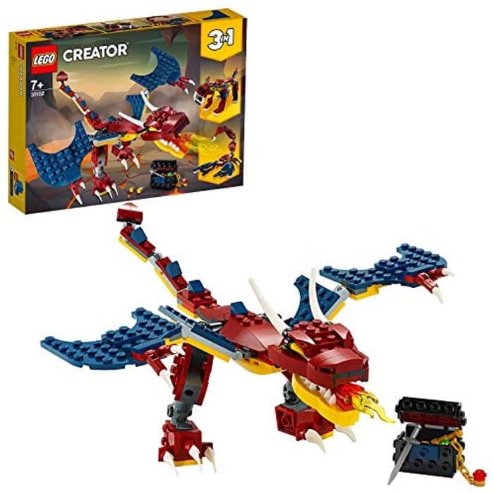 NEW! LEGO CREATOR 3-in-1 Fire Dragon (31102) ***4.8 STARS***