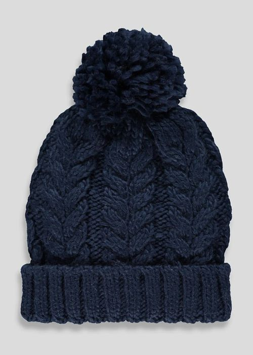Boys Cable Bobble Hat (7-13yrs) save £2.50