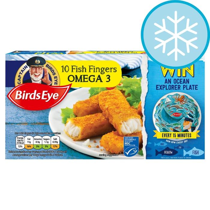 Birds Eye 10 Fish Fingers Omega3 280G