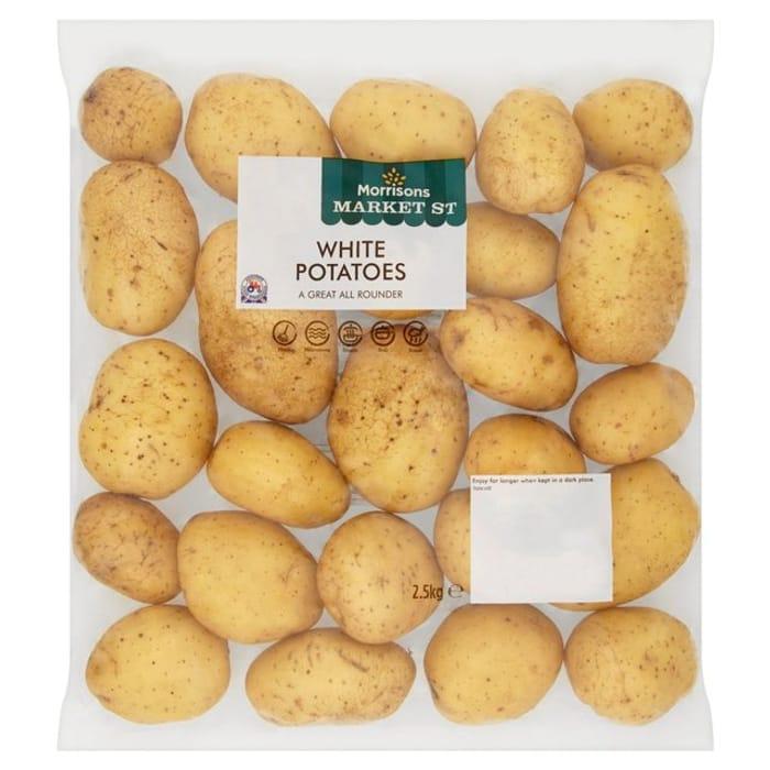 Morrisons White Potatoes2.5kg Buy 2 for £2