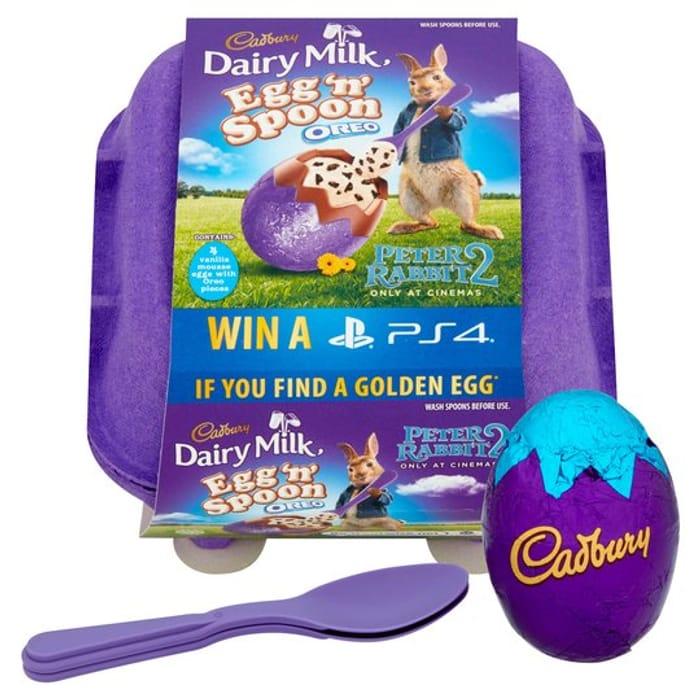 Cadbury Dairy Milk Egg & Spoon 4pk - HALF PRICE