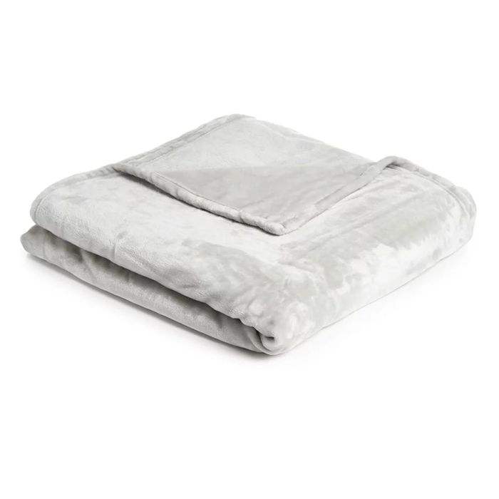 Wilko Silver Supersoft Throw 200 X 200cm