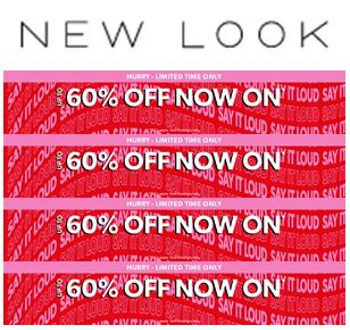 NEW LOOK SALE - up to 60% off (And 25% off ALL TOPS)