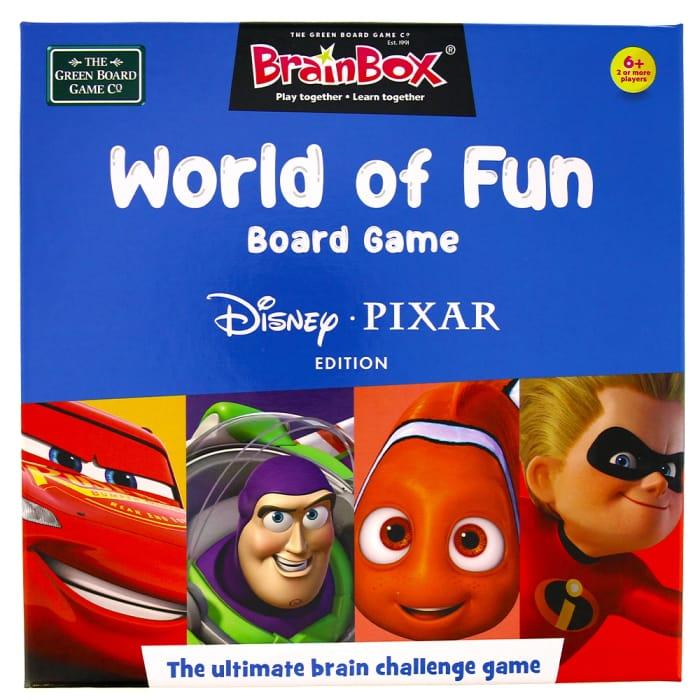 BrainBox World of Fun Board Game: Disney Pixar Edition