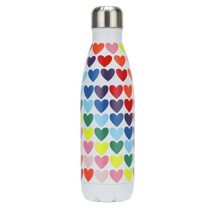 Rainbow Heart Print Bottle 500ml