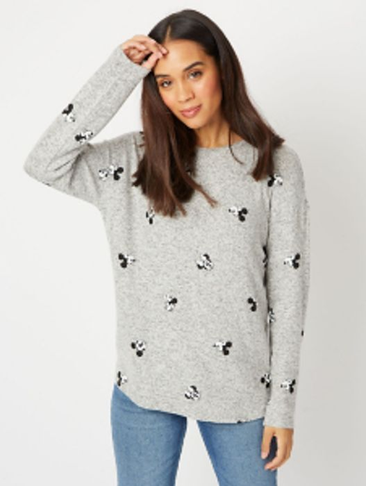 Disney Mickey and Minnie Mouse Printed Knitted Top