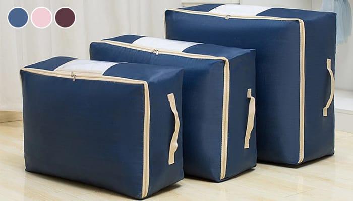 1 or 3-Pack of Waterproof Storage Bags - 3 Colours