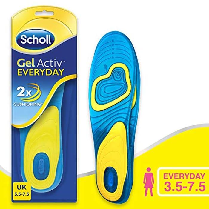 Scholl Insoles Women's Everyday, Gel Active, Shoe Sizes 3.5 - 7.5