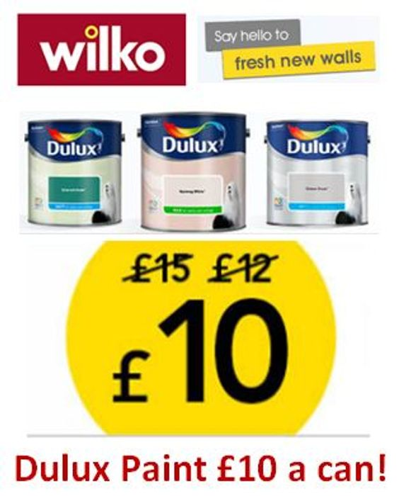 33% off DULUX PAINT OFFER at WILKO