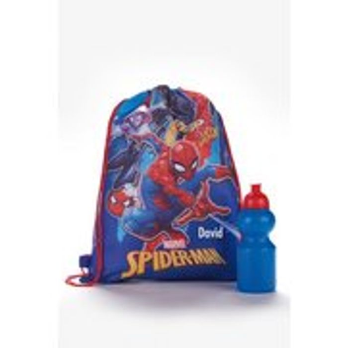 Personalised Spiderman Pump Bag and Bottle