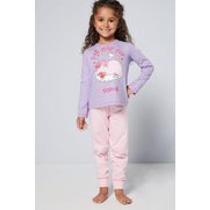 Girls Personalised Cat Nap Pyjamas