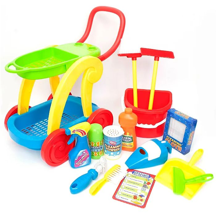 Kid Connection Cleaning Trolley Playset