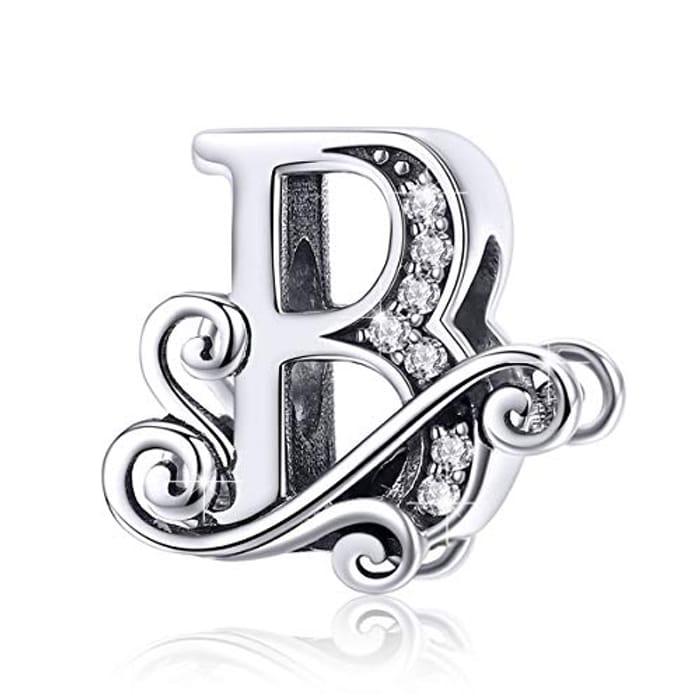 50%off BAMOER Letter Beads Initial A-Z Alphabet Charms for European Bracelets