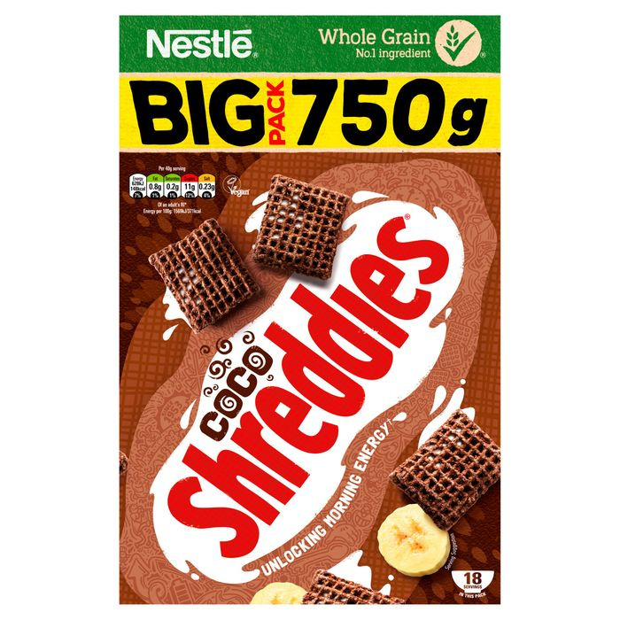 Nestle Coco Shreddies Cereal *750G HALF PRICE WAS £3.50 NOW £1.75