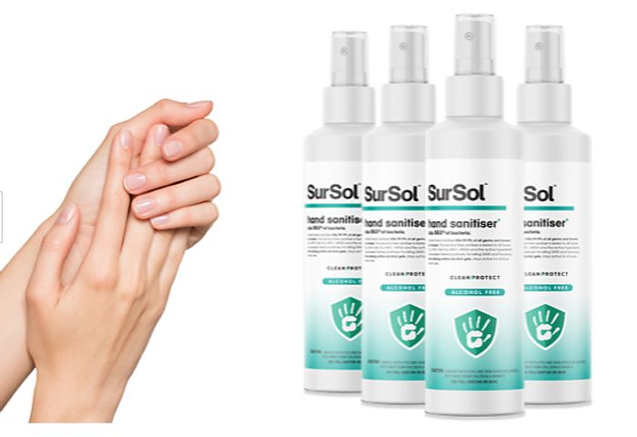 SurSol 50ml Hand Sanitiser - 1, 2, 3 or 4 Pack! + Extra 10% Off