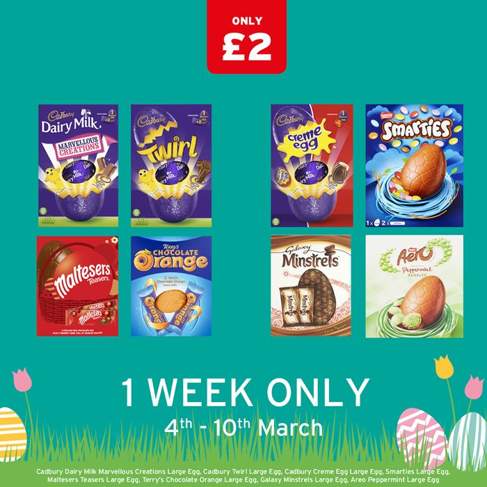 Selected Large Easter Eggs Half Price