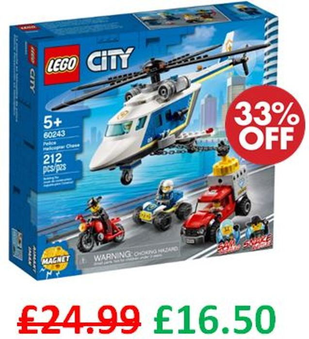 LEGO CITY - Police Helicopter Chase (60243) - Save 26%