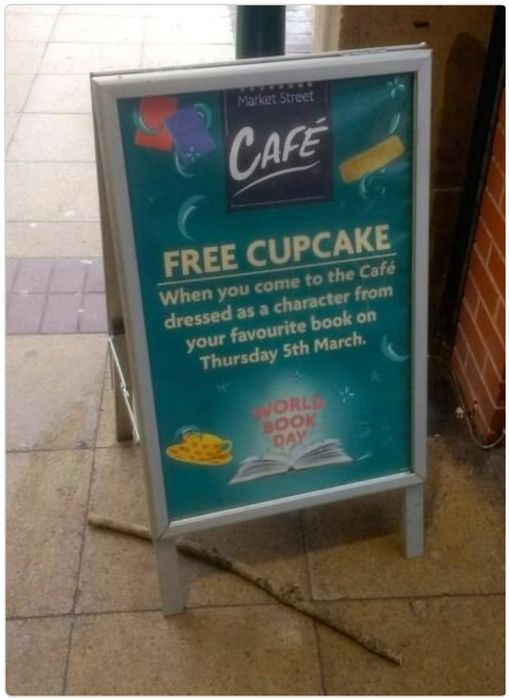 Free Cupcake at Morrisons Cafe on World Book Day 05/03