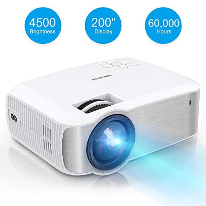 Bargain! 4500 Lumens TOPVISION Mini Projector 1080P for £35.99 Only
