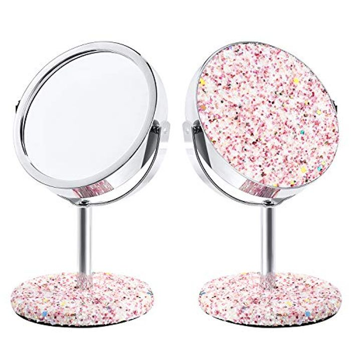 3.5 Inch Miror with Glitter, Ideal Gift