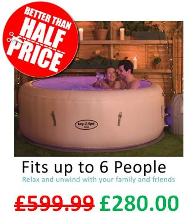 Lay-Z-Spa Paris Hot Tub with LED Lights - AMAZON #1 BESTSELLER