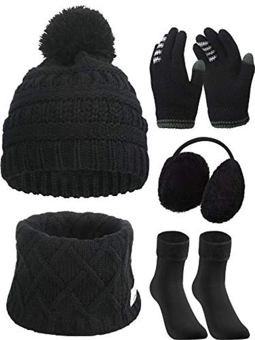 Kids Toddler Cap Ear Muffs Gloves Socks