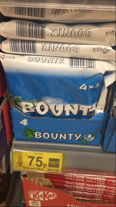 Bounty Chocolate - 4 Pack