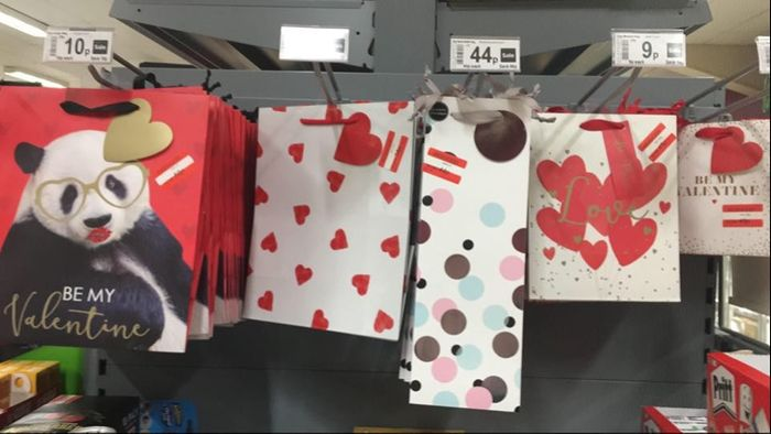 All Valentines Stock Reduced to Clear