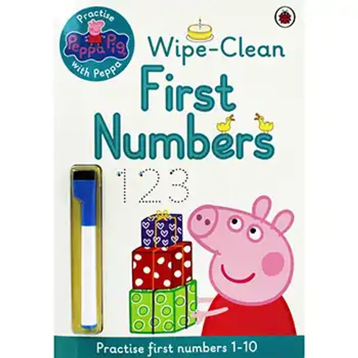 Cheap Peppa Pig - First Numbers Wipe-Clean Book Click and Collect Only £3