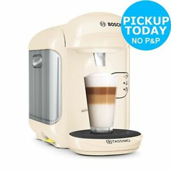 Best Price! Tassimo by Bosch Vivy 2 Coffee Machine Cream 3.3Bar 0.7L 1300W