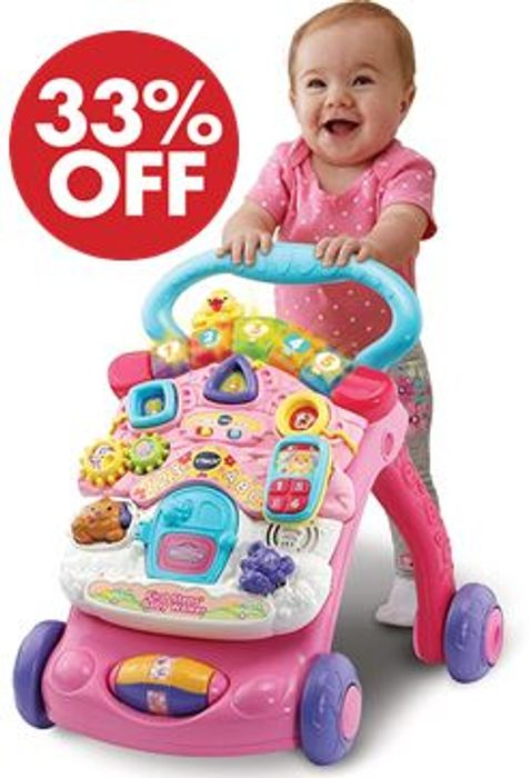 SAVE £12 at AMAZON - Vtech First Steps Baby Walker, Pink ***4.8 STARS***