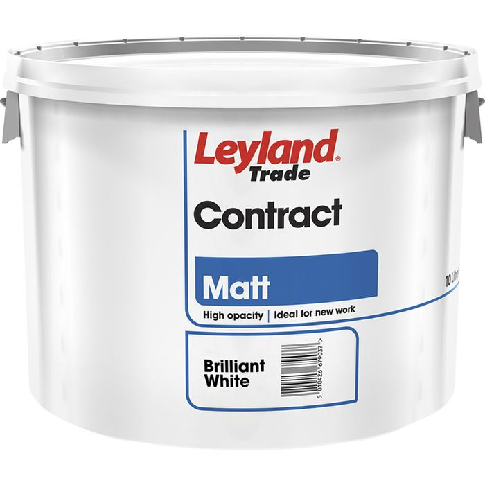 20lt Leyland Matt Emulsion Paint Brilliant White/Magnolia