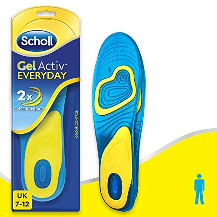 Scholl Mens Gel Activ Everyday Insoles, UK Size 7 to 12