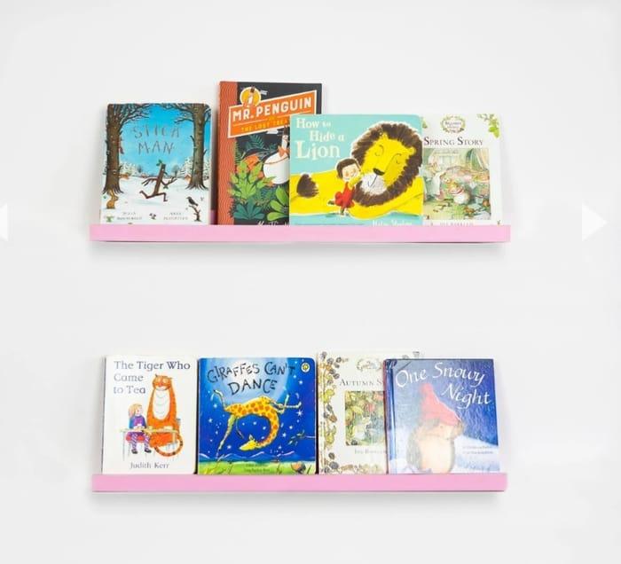 Kids Bedroom Gallery Bookshelf - 56cm - Pink
