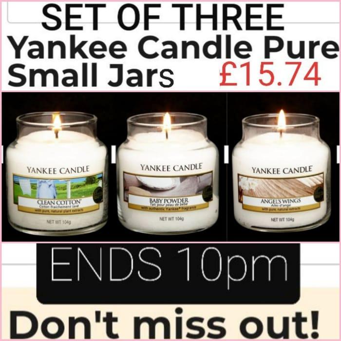 3 Small Jars - YANKEE CANDLE SET
